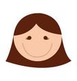 cute women face cartoon vector image