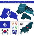 dongnae district busan city south korea vector image vector image