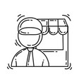 e-commerce icon vendors hand drawn icon set vector image