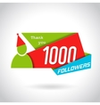 Followers Poster Design vector image vector image