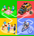 food truck bbq grill home delivery isometric vector image vector image