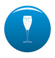 full glass icon blue vector image vector image