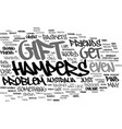 gift hampers text background word cloud concept vector image vector image