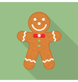 Gingerbread Man vector image vector image