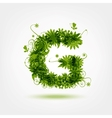 Green eco letter G for your design vector image vector image