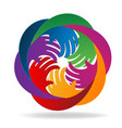 group of hands teamwork logo icon vector image