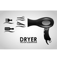 hairdressing equipment design vector image vector image
