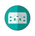 house suburban home circle shadow vector image vector image