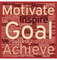 How to Stay Motivated and Stick to Your Goals text vector image vector image