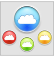 Icon of a cloud vector image vector image