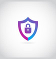 internet secure shield logo sign symbol icon vector image vector image