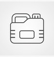 jerrycan icon sign symbol vector image