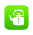 kettle old icon green vector image vector image
