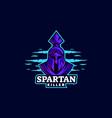 logo spartan e sport and sport style vector image vector image