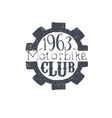 Motorbike Club Black And White Vintage Emblem vector image vector image