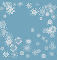 new year blue background vector image vector image