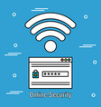 online security acount password and wifi vector image