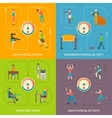Physical Activity Flat Concept vector image vector image