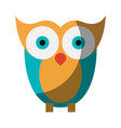 realistic colorful shading image of owl bird vector image