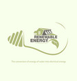 renewable energy of hydroelectric power in bulb vector image