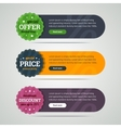 Rounded set of banners with labels vector image vector image