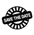 save the date stamp on white vector image