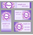 Set of four cards with buttercup disign vector image vector image