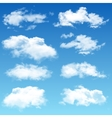 set realistic clouds vector image