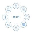 ship icons vector image vector image
