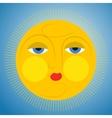 Sleepy sun vector image vector image