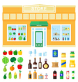 store showcase of food and drink vector image vector image