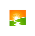 sun shine landscape nature abstract logo vector image vector image
