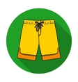 Swimming trunks icon in flat style isolated on vector image