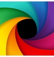 Swirly colorful paper background vector image vector image