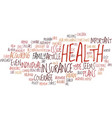 the important of health insurance text background vector image vector image