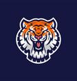 tiger head e sport logo icon vector image vector image