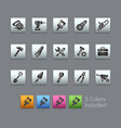 tools icons - satinbox series vector image
