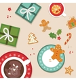 top view of Christmas celebration vector image vector image
