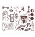 trendy esoteric symbols sketch hand drawn vector image vector image
