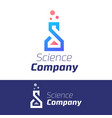 trendy science symbol for company element vector image vector image