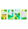 trendy tropic editable set templates for vector image