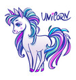 unicorn head portrait magic fantasy horse d vector image vector image