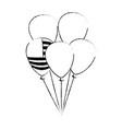 united states of america balloons celebration vector image