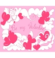 Valentine Day card with angel hearts vector image vector image