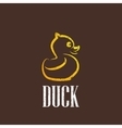 vintage with a rubber duck icon vector image vector image