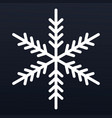 winter snowflake icon outline style vector image vector image