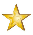 yellow star on white background vector image vector image