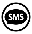Sms button on white vector image