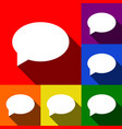 speech bubble icon set of icons with flat vector image