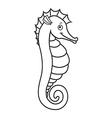 cute seahorse vector image